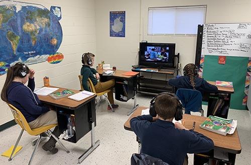 OCA Students learning